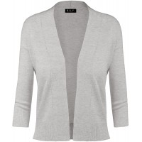 BH B.I.L.Y USA Women's Classic Open Front Cropped Cardigan at  Women's Clothing store