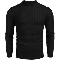 COOFANDY Men's Slim Fit Soft Blend Winter Mock Neck Pullover Sweater at  Men's Clothing store