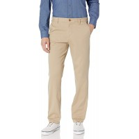 IZOD Men's Performance Stretch Straight Fit Flat Front Chino Pant at  Men's Clothing store